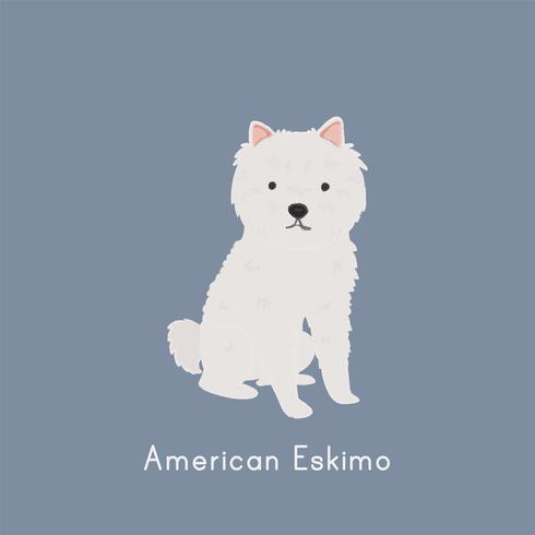 Leuke illustratie van een Amerikaanse eskimohond