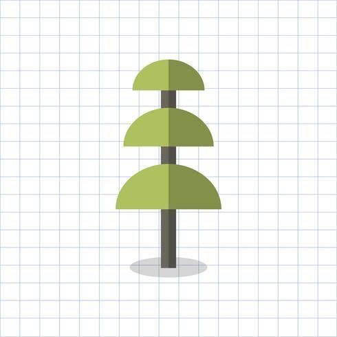 Illustrazione di un albero geometrico
