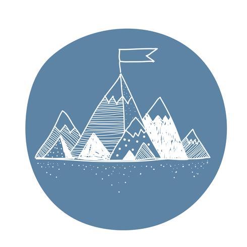 Vector of mountain