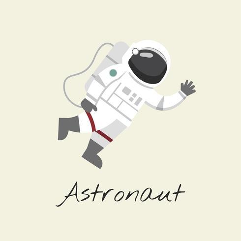 Illustratie van een astronaut