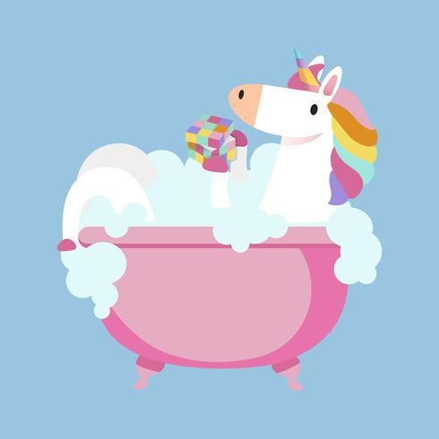 Unicorn tar en badvektor