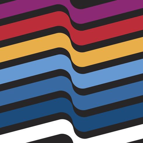 Conjunto de ilustração gráfica suíço multicolorido