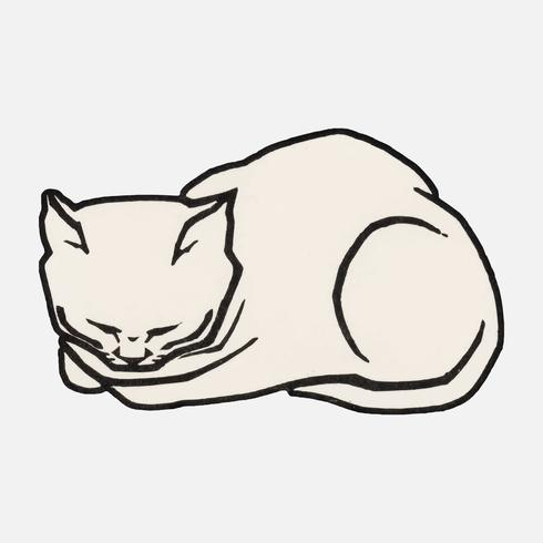 December Cat (1917) di Julie de Graag (1877-1924). Originale dal Museo Rijks. Miglioramento digitale di rawpixel.
