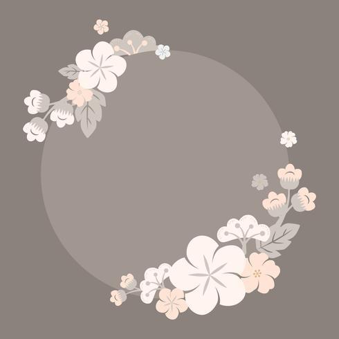 Japanska pastellblommor ram