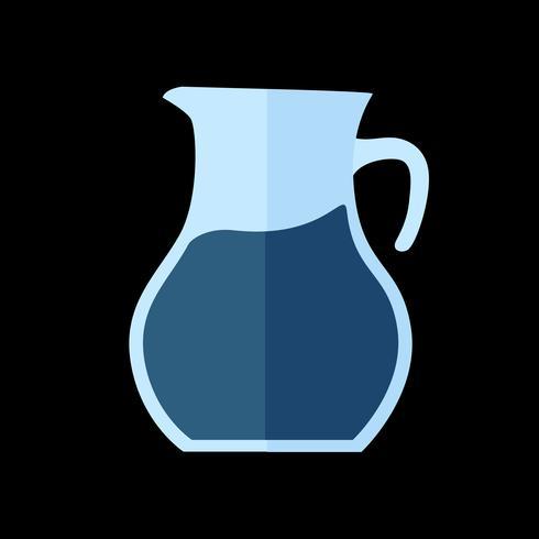 Eenvoudige illustratie van een kruik sap