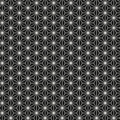 Seamless japansk mönster med hampa bladmotiv vektor