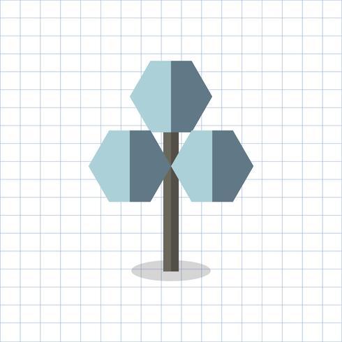 Illustratie van een gekleurde geometrische boom