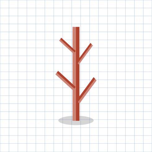 Ilustración de una rama de árbol calvo