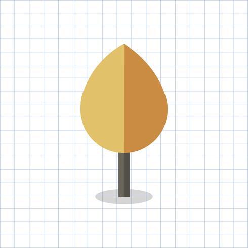 Illustration av ett färgat geometriskt träd