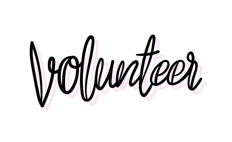 Handschrift Vrijwilligerswerk typografie illustratiestijl