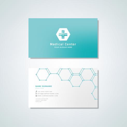 Medicinsk professionell visitkort design mockup