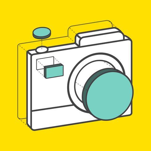 Illustrativ kamera kreativ digital grafik