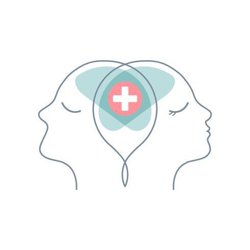 Par terapi mental hälsa vektor