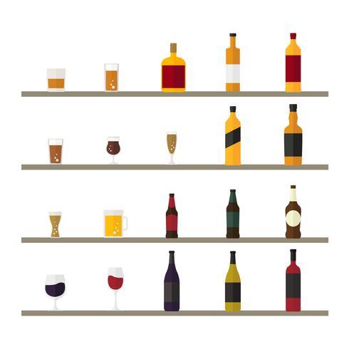 Colección de vectores de bebidas