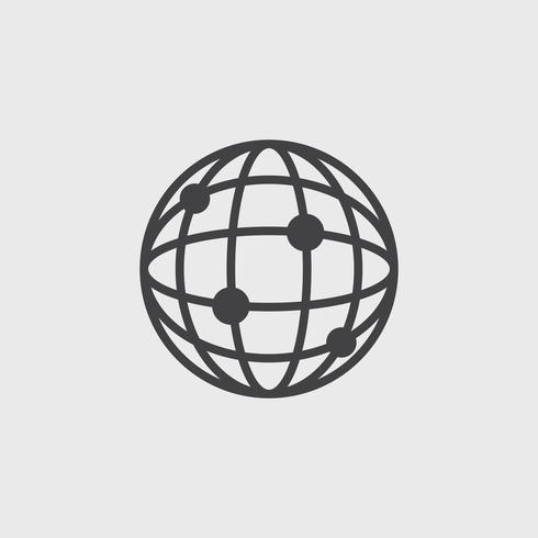 Illustration av global anslutningsikon