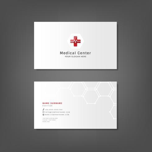 Modelo de design profissional médico cartão de visita