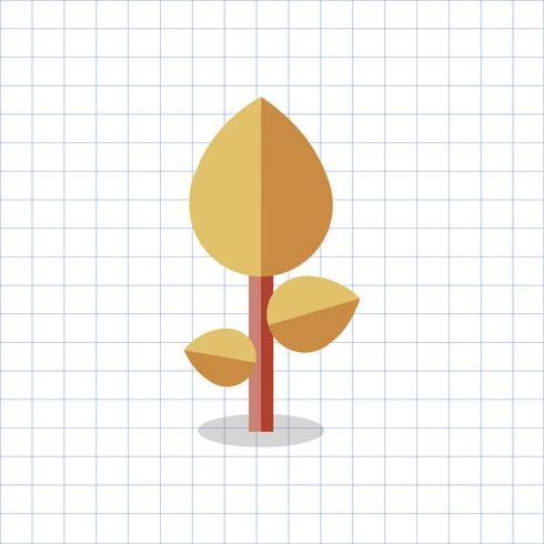 Illustration d'un arbre géométrique coloré