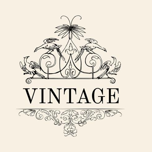 Vintage flourish ornament illustration