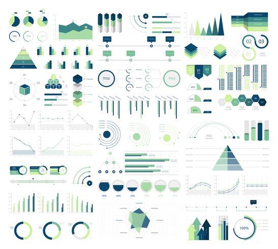 Conjunto de elementos de infográfico