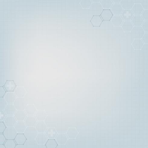 Blue pastel with hexagon border