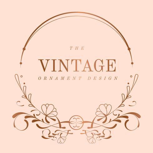 Vintage Rose Gold Art Nouveau emblem vektor
