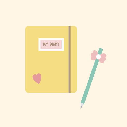 Illustrazione di un notebook girly