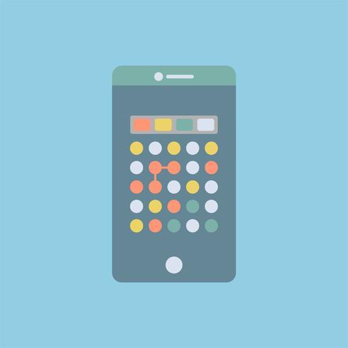 Graphique de jeu de points sur le téléphone mobile