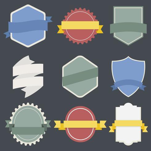 Ilustração, de, emblemas, cobrança
