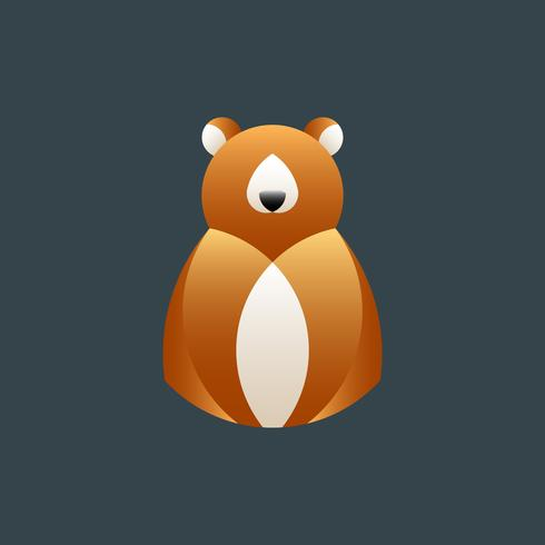 Brun björn geometrisk djur design vektor