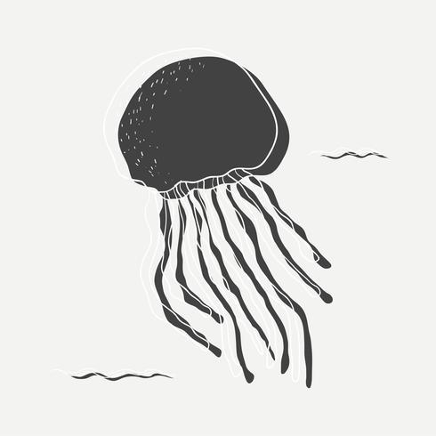Ilustração de medusa preta