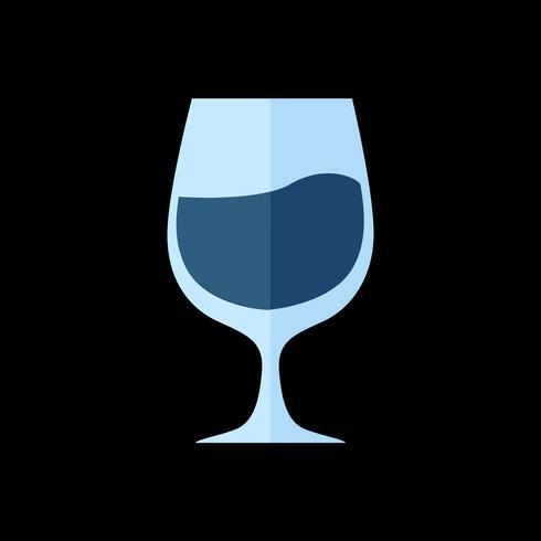 Ilustração simples de copo de vinho