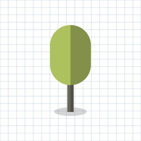 Illustrazione di un albero a forma geometrica