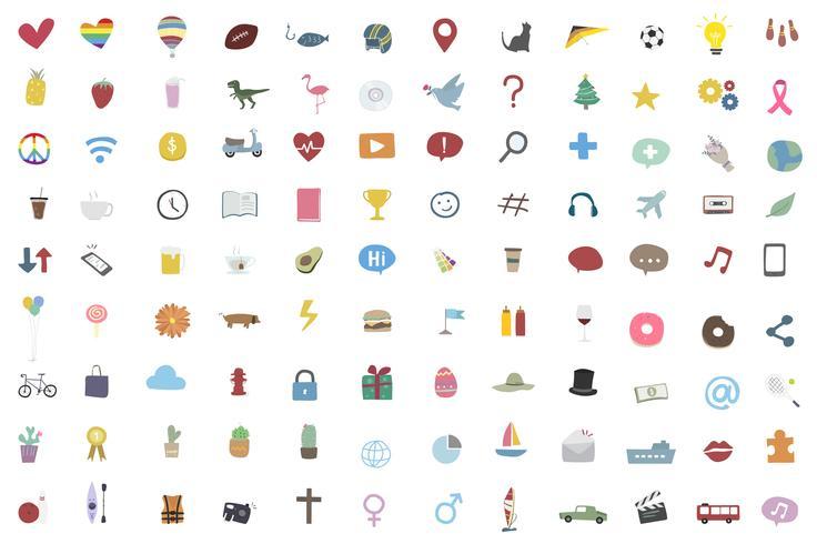 Collection d'icônes aléatoire et populaire