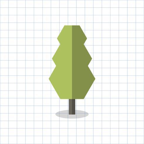 Ilustração de uma árvore geométrica