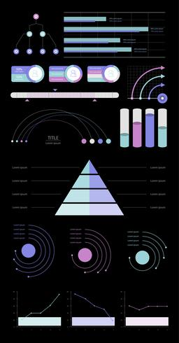 Set Geschäftsdiagramme und -diagramme
