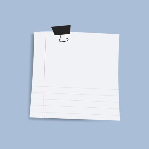 Blank square reminder paper note vector
