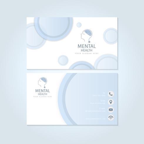Psiquiatra de salud mental nombre tarjeta maqueta vector