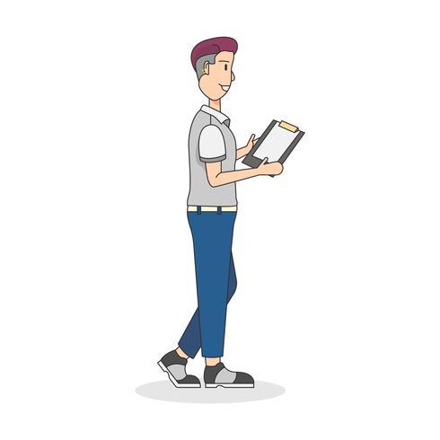Illustration de l'homme avec un presse-papiers