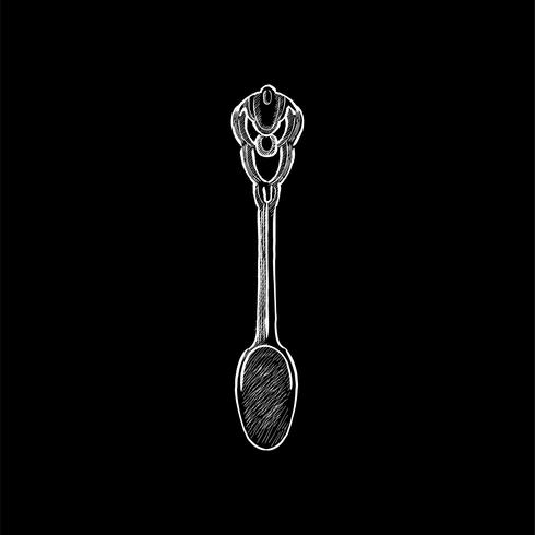 Illustrazione d'epoca di un cucchiaio