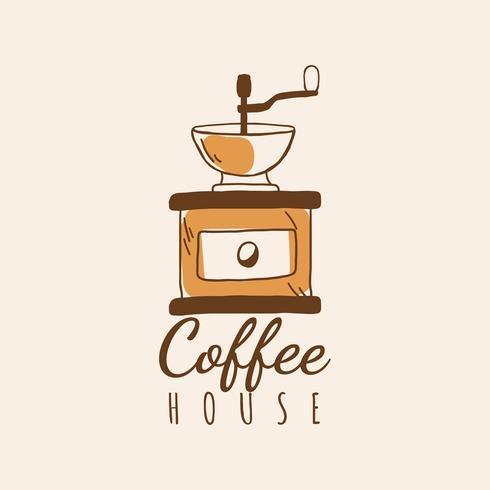 Vecteur de logo café maison café