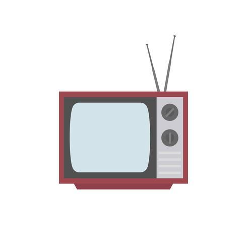 Vecchia illustrazione grafica della televisione dello schermo in bianco