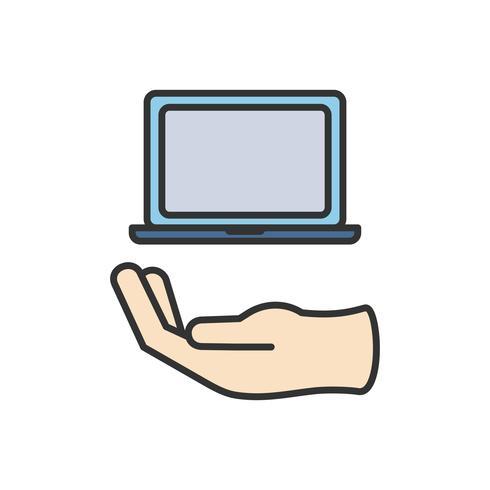 Illustration av datorns bärbara ikon