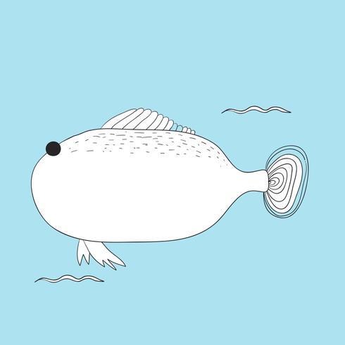 Vector de criaturas submarinas