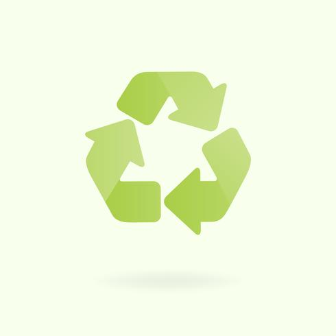 Recycle symbool milieubehoud vector