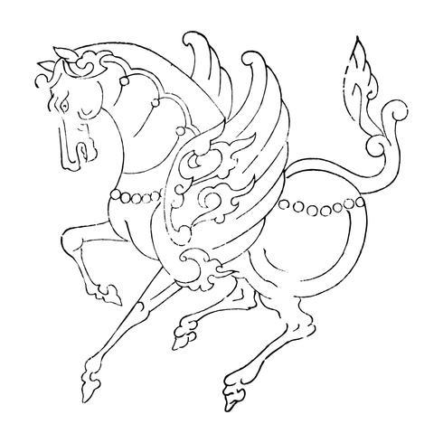 Weinlese-Illustration des Japaners Kirin