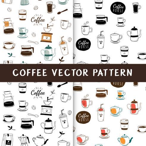 Vector de fondo transparente de cafetería y cafetería
