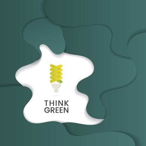 Pensez vecteur de conservation de l'environnement vert