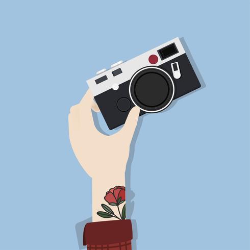 Abbildung der Handkamera halten