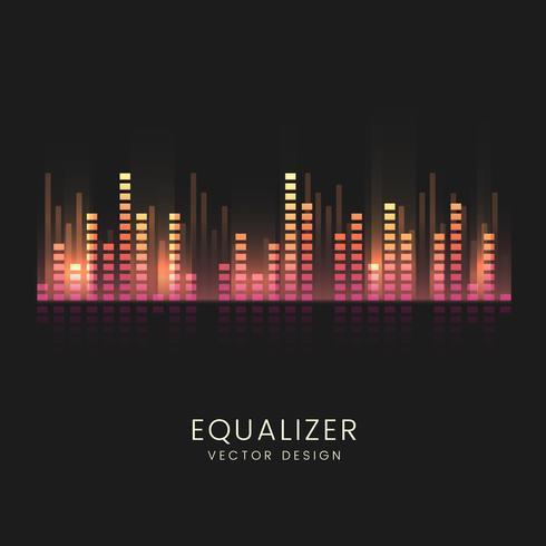 Kleurrijke geluidsgolf equalizer vector ontwerp