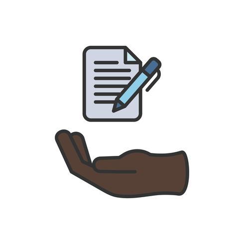Illustration der Dokumentsymbol